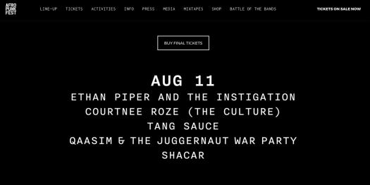 Afropunk Battle of the Bands 2017